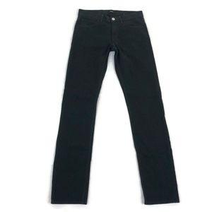 THEORY Men's Black Plaid Straight Leg Pants